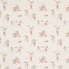 white maritime pirate fabric by Michael Miller USA - Sailor Fabric - Fabric - kawaii shop modeS4u