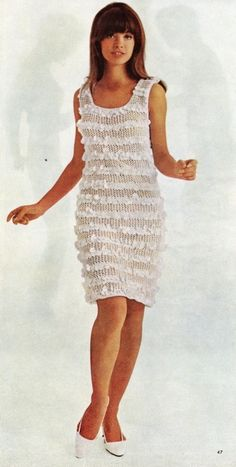 lace stripe dress, 1967
