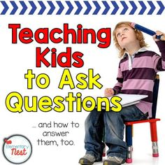 Asking questions has always been one of the harder things I think that we have to teach in primary grades. Kids ask questions ALL the time,. Speech Therapy Activities, Language Activities, Reading Activities, Teaching Reading, Guided Reading, Close Reading, Shared Reading, Reading Resources, Literacy Activities