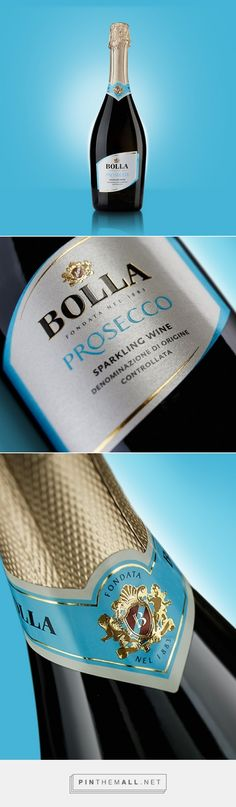Gruppo Italiano Vini, Bolla Restyling - Prosecco DOC #Colour Prosecco Doc, Wine Packaging, Packaging Design, In Vino Veritas, Sparkling Wine, Bottle Labels, Label Design, Champagne, Shopping