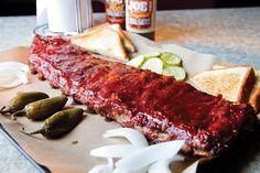 Oklahoma Joe's full slab of ribs feeds three to four people.