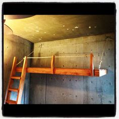 The holidays had us designing and fabricating two wall-hung loft beds for two lucky little boys who had outgrown their kiddo beds. The big boy beds are crafted from solid pecan for the frame, platform, and ladder, and then bolted. Bunk Bed Rail, Lofted Beds, Bed Rails, Small Rooms, Kids Rooms, Kids Bedroom, Shipping Container Home Designs, Container House Design, Boy Beds