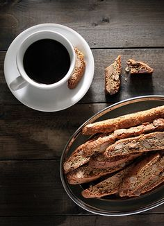 Biscotti & Coffee...I LOVE this. The best I ever had was at The Olive Garden...I kid you not. Love it :)