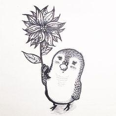 flower  #draw #drawing #art #illust #illustration #illustrator #sketch #sketchbook #love #doodle #cute #lonely #bird #mood #pen #the_enchanted_art #artssharingCL #illustrationartists #instaart #followme #イラスト #とりさん #筆ペン #blackandwhite ©︎ 2016. Hiroko Tanaka