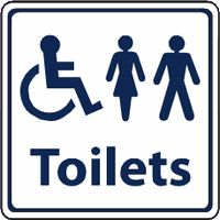 Unisex / Disabled Toilet sign - Male / Female symbol