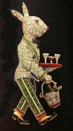 ArtDeco Rabbit brooch by Raymond Yard. Yard began designing his famous rabbit brooches in the 1920s.