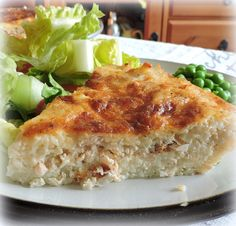 Tuna, Cheese & Onion Pie...A delicious cheddar, tuna and onion filling bakes in a tasty rice shell!!