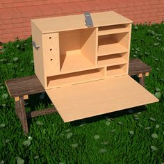 Camping Kitchen Box Woodworking Plan by Paul Anderson
