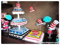 The cat in the hat party ideas (lots of ideas and tutorials)