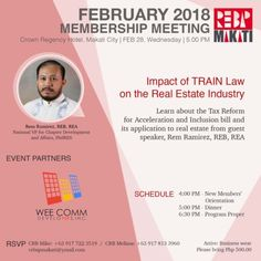Attention: Makati Chapter CRBs Inviting you all on our February Membership Meeting this coming February Wednesday, PM at Crown Regency Hotel, Makati City (Se… Regency Hotel, Makati City, February, Invitations, Learning, Studying, Teaching, Save The Date Invitations, Shower Invitation