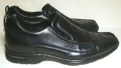 Cole Haan Black Leather Loafers Nike Air Soles Slip On Dress Shoe Cushion Men 11 #ColeHaan #LoafersSlipOns