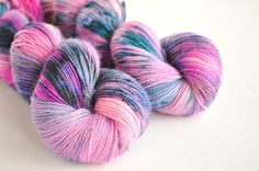 Lily Pond - BFL Sock from Skein