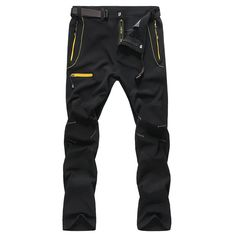 Mens Outdoor Durable Soft Shell Water-repellent Quick-Dry Breathable Pants - Newchic Mobile.