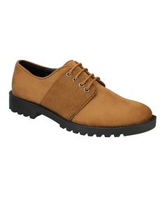Loving this Tan Lace-Up Oxford on #zulily! #zulilyfinds