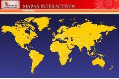 Mapas interactivos, aplicación muy atractiva para el estudio de la geografía política y física con gran variedad de actividades interactivas.  #rinconccss #Recursoseducativos #tic_ccss