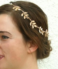 Grecian Headband Bridal Hair Piece Wedding Hair by YaelSteinberg, $29.90