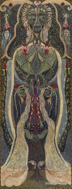 Solange Knopf - Spirit Codex (Es ist eine seltsame Frauengestalt zu sehen und deren Inneres. Es sind viele Menschen unten zu sehen, wie bei einer Art Gebärmaschine.)