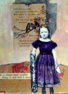 In the field I stray vintage inspired mixed media by MaudstarrArt, $50.00