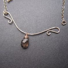 Unique Kreations :: V Neck Interchangeable Necklace :: Mix and Match with gemstone, pearl and crystal drops