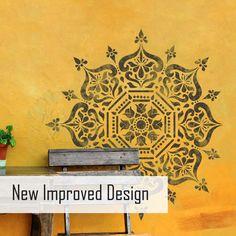 BUKHARA Home Decor DIY Stencils - Wall Stencils - Furniture Stencils - Moroccan Stencils - Mediterranean Tile Stencils - Floor Stencils