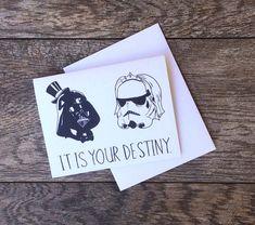 Star Wars Destiny Wedding Card By Beeisforbear On Etsy