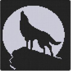 Howling Wolf Cross Stitch Pattern
