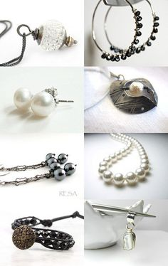 Classic black & white jewelry --Pinned with TreasuryPin.com