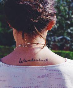 Wanderlust tattoo.