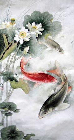 Koi Fish,69cm x 46cm(27〃 x 18〃),2379001-z