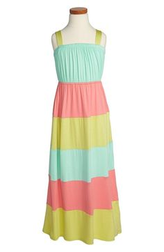 Soprano Pieced Colorblock Maxi Dress (Little Girls & Big Girls) | Nordstrom