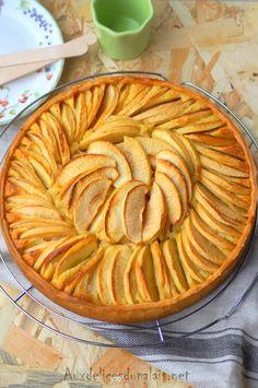 Tarte amandine aux pommes · Aux délices du palais