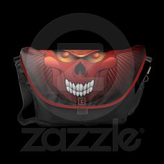 #Halloween #Skull and #Pumpkin #Messenger #Bag © #Bluedarkat - on #Zazzle!