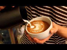 How to create a layer tulip & mini rosetta #latte art #Coffee youtube video Beautiful!!!!