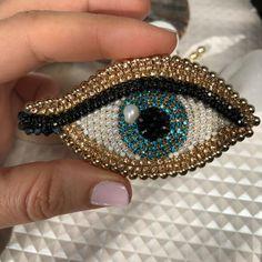 Items similar to Gold flower crystal stud earrings asymmetrical long ooak jewelry. on Etsy Blue evil eye crystal brooch third eye lapel pin gift for luck Bead Jewellery, Boho Jewelry, Beaded Jewelry, Jewelry Crafts, Jewelry Ideas, Etsy Jewelry, Fine Jewelry, Jewelry Design, Fashion Jewelry
