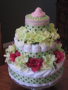 Great local company with awesome diaper and towel cakes!! Look good enough to eat:)