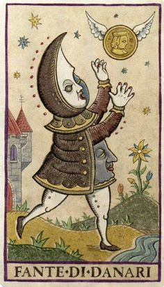 What Are Tarot Cards? Made up of no less than seventy-eight cards, each deck of Tarot cards are all the same. Tarot cards come in all sizes with all types Oracle Tarot, Tarot Readers, Weird Creatures, Medieval Art, Tarot Decks, Occult, Illustration Art, Drawings, Coins