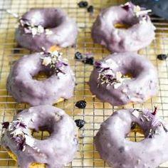 Blueberry Water, Blueberry Donuts, Gluten Free Blueberry, Organic Blueberries, Dried Blueberries, Coconut Sugar, Gluten Free Baking, Melted Butter, Yummy Food