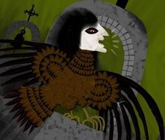 "In Castilian mythology, the name ""Paparrasolla"" refers to a mythological being known for threatening and silencing misbehaving children who cry. It is the Castilian counterpart of the Greek harpy. It ironically bears a resemblance to a harpy. Both creatures are depicted as winged bird women considered to be malicious and hostile."