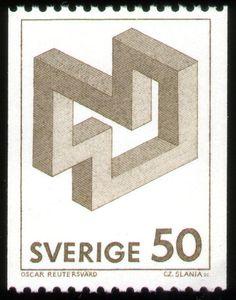Oscar Reutersvard stamp