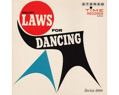 Maury laws for dancing - Murray Stein ancienne pochette de disque années 60 vintage album cover 60s