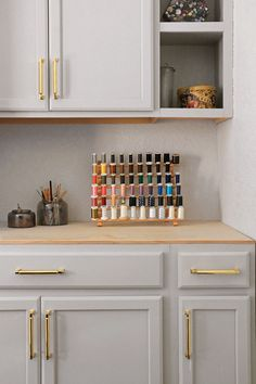 Transforming The Sewing Room With Paint - Home Made By Carmona Stock Cabinets, Kitchen Cabinets, Craft Projects, Sewing Projects, Craft Rooms, Fun Crafts, Sewing Crafts, Painting, Home Decor