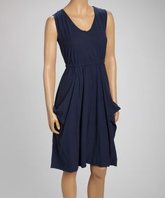 Navy Pouch Pocket Dress #zulily #zulilyfinds