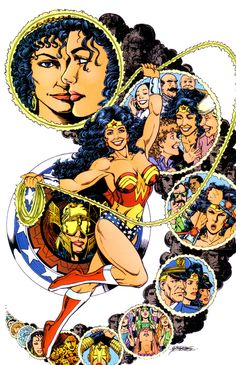 Pin-up by George Perez from the Wonder Woman Gallery published. Pin-up by George Perez from the Wonder Woman Gallery published by DC Comics Comic Book Artists, Comic Artist, Comic Books Art, Star Comics, Dc Comics Art, Teen Titans, Wonder Woman, Grant Morrison, George Perez