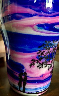 Rainbow Watercolor Let It Be Tumbler Alcohol Ink Tumblers Glittery Tumblers Custom Stainless