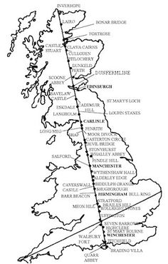 (Julian Websdale) One of the greatest mysteries of our time is the many alignments that link together sacred sites all over the UK and Europe called 'ley lines', 'leys', or 'energy lines'. Uk History, British History, Ancient History, Stonehenge, Earth Grid, Map Of Britain, Scotland Road Trip, Creepy, Ancient Mysteries