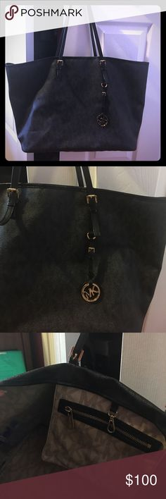 Michael Kors tote Great condition, there is some ink spill inside the bag but the outside looks new. I am moving abroad and selling most things in my closet, feel free to check it out and make an offer :) Michael Kors Bags Totes