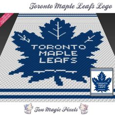 Toronto Maple Leafs Logo crochet graph by TwoMagicPixels on Zibbet Toronto Maple Leafs Wallpaper, Toronto Maple Leafs Logo, Wallpaper Toronto, Granny Square Crochet Pattern, Crochet Blanket Patterns, C2c Crochet, Crochet Blankets, Crochet Ideas, Crochet Projects