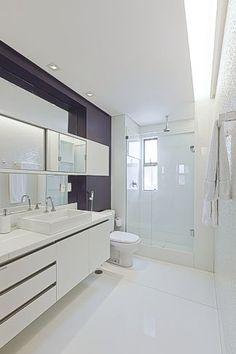 banheiro com revestimento branco - Pesquisa Google