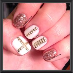 OPI Gelcolor, Young Nails Glitter & Metal Square Studs
