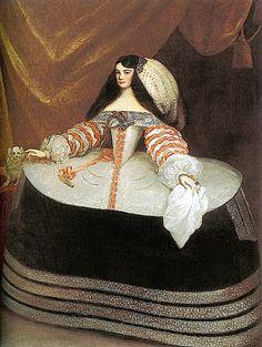 Juan Carreño de Miranda Retrato de Doña Inés de Zúñiga, condesa de Monterrey, circa oil on canvas, 199 × 155 cm × 61 in) Baroque Fashion, European Fashion, Vintage Fashion, Historical Costume, Historical Clothing, Renaissance Espagnole, Mode Baroque, Mode Renaissance, 17th Century Fashion